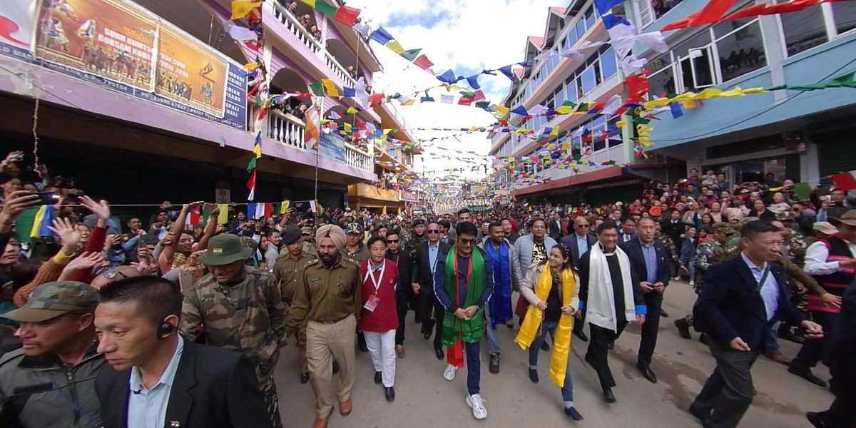 Stand-up comedian Kapil Sharma and his co-star Sumona Chakravarty during their visit to Tawang in Arunachal Pradesh last month