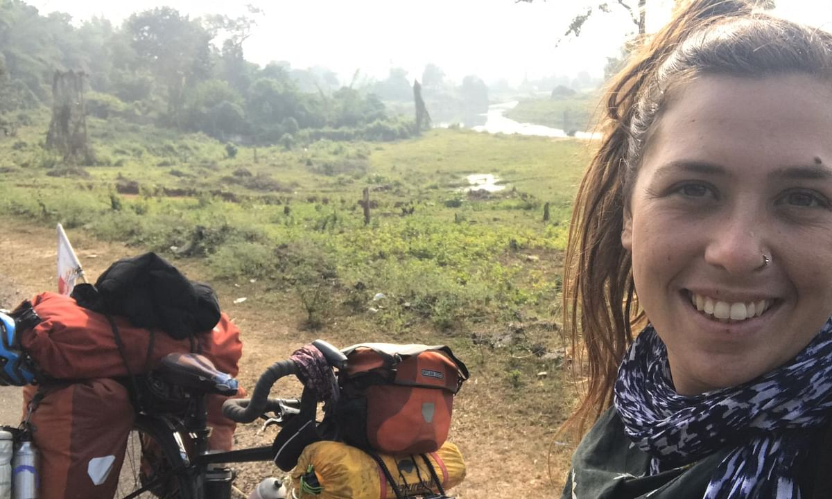 Meet the London woman cycling across 26 nations for 'happiness'