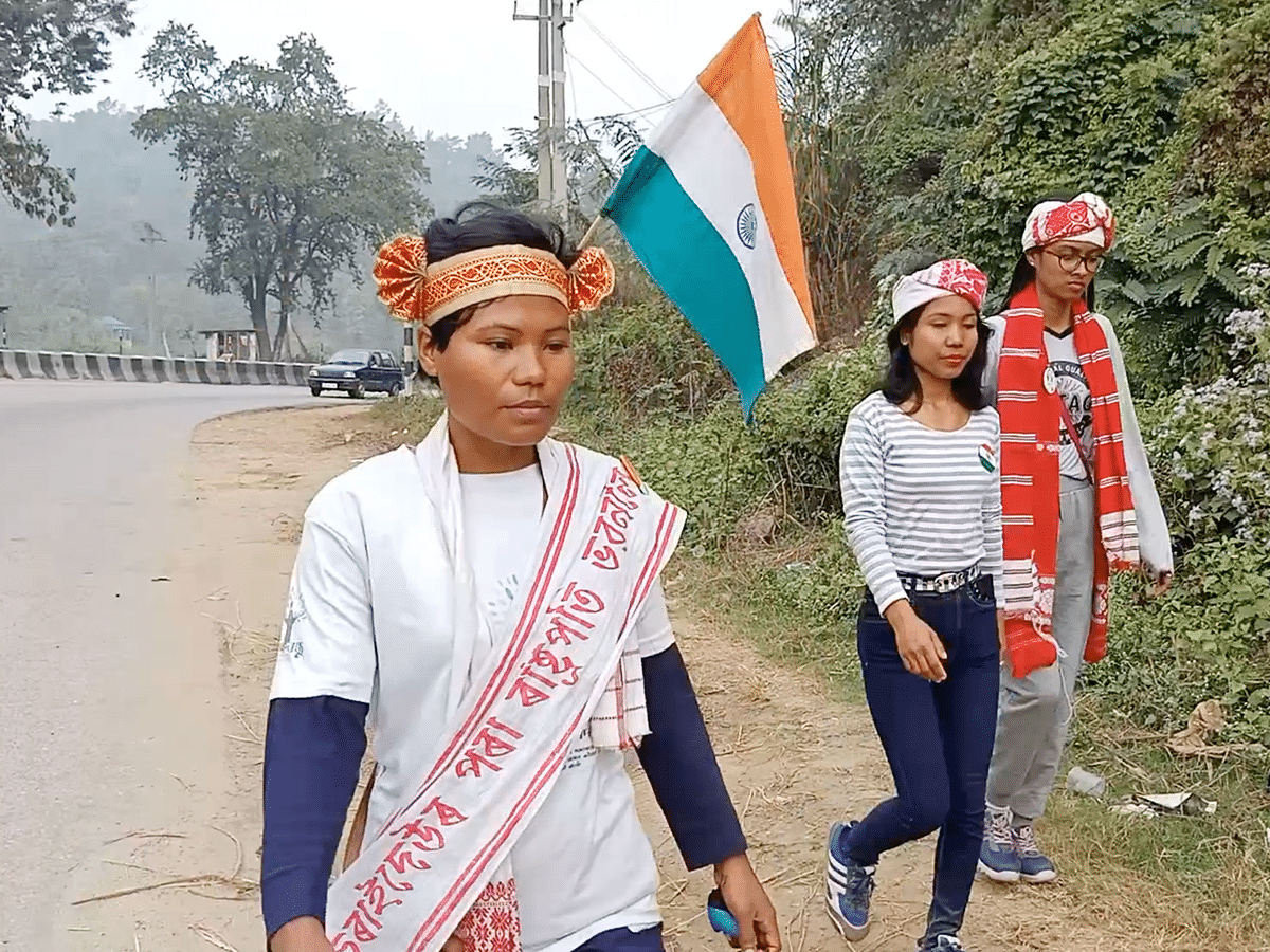 This Assam woman is on a 2,000-km foot journey to protect nature