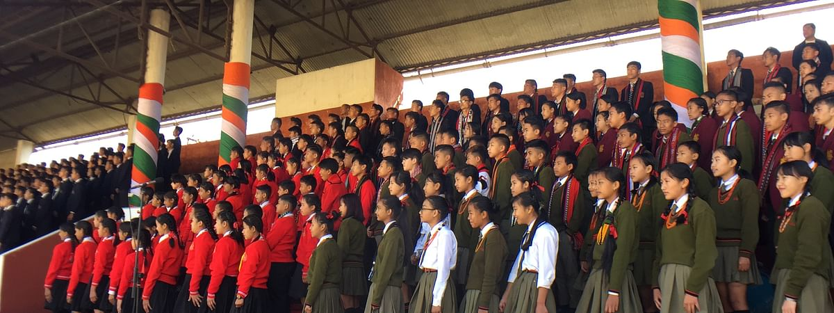 A file image of school students in Kohima