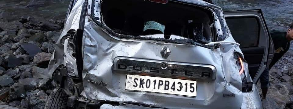 The vehicle bearing registration number SK-01-PB-4315 met with the accident early on Thursday morning