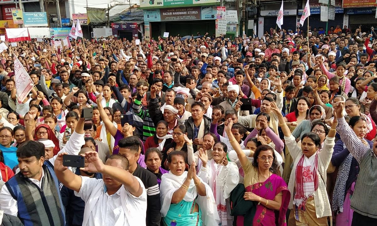 Assam: Thousands hit Tinsukia streets against CAA, markets closed