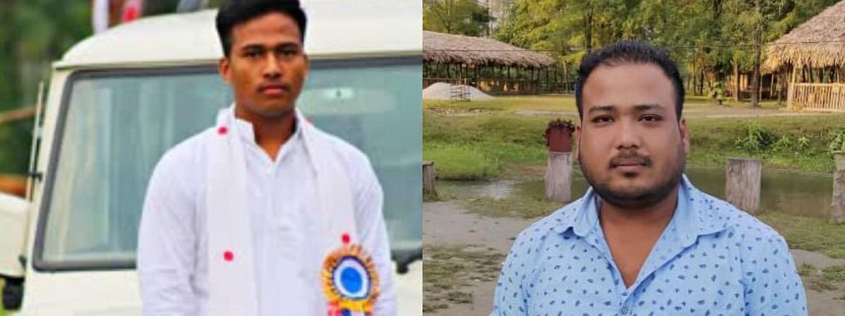 While Biju Gogoi (left) went missing from Tinsukia district, Gyandeep Borpatra Gohain disappeared from neighbouring Dibrugarh