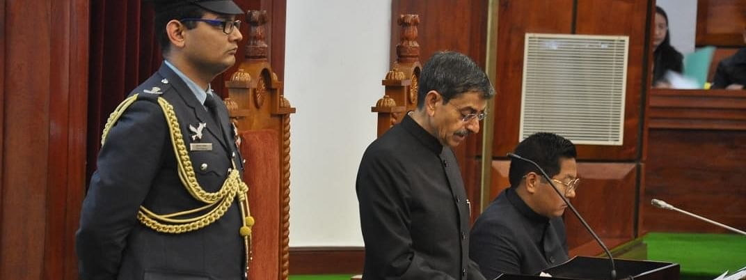 Governor of Nagaland and Meghalaya RN Ravi addressing the 5th session of the 13th Nagaland Legislative Assembly on Friday