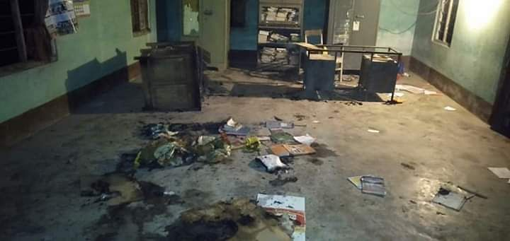 A group of five to eight unknown miscreants entered the ABSU office in Assam's Baksa district on Tuesday night and vandalised several properties