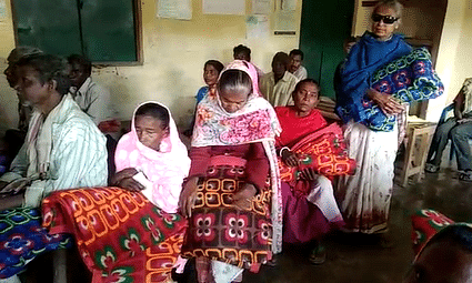 The Social Welfare Group distributed blankets to almost  50% of the elderly men and women in Mathurapur