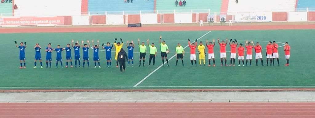 Group B match between Sikkim (in blue) and Mizoram (in red)