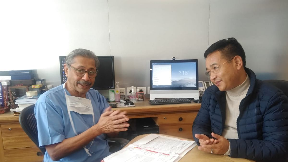 CM PS Golay meets Dr Naresh Trehan over medical issues of Sikkim