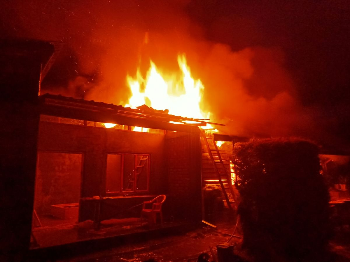 Manipur: Massive fire engulfs house in Ukhrul village, baby dead