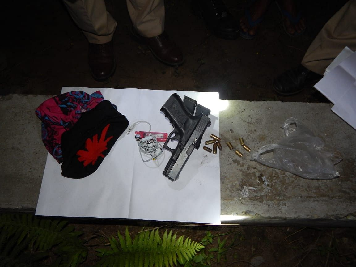 During the search of encounter site, a foreign-made 9 mm Glock pistol, two magazines and ammunition were recovered from the deceased militant's possession