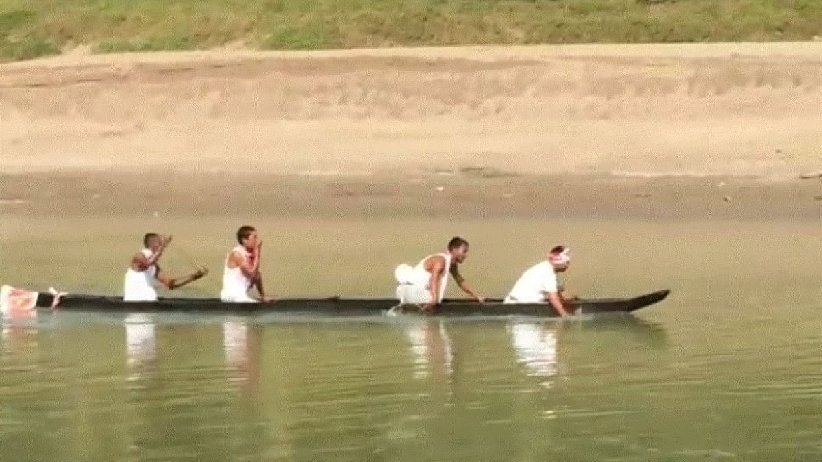 Six team, with four members each, participated in the boat race on Dikhow river in Assam's Sivasagar district