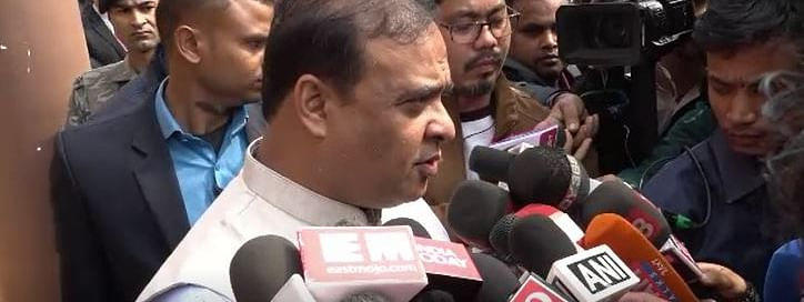 Assam minister for health and finance Himanta Biswa Sarma congratulates Union finance minister Nirmala Sitharaman for Budget 2020.