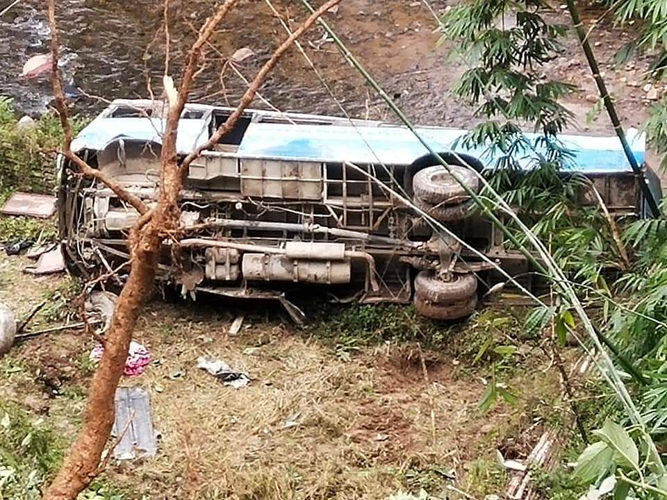 Arunachal state transport bus falls into gorge, several injured