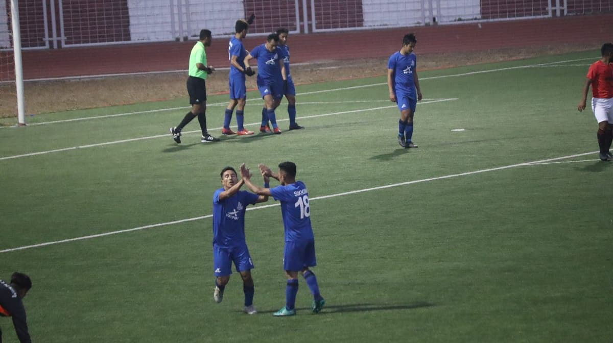 Sikkim celebrating its first goal
