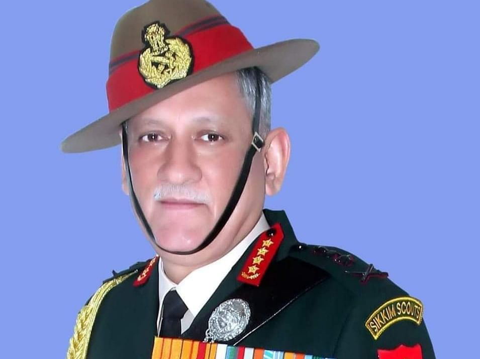 Why does CDS General Bipin Rawat always wear 'Sikkim Scouts' tab?