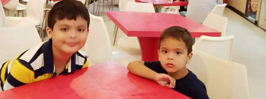 Charred bodies of Ishan Goswami (8) (left) and Iban Goswami (5) were recovered from the spot. Iban was celebrating his fifth birthday on Thursday