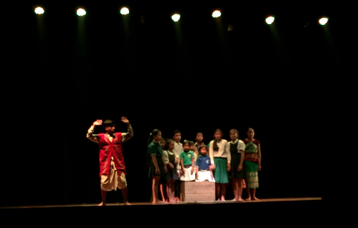 Theatre troupe from Goalpara performing a play titled Gunotsav