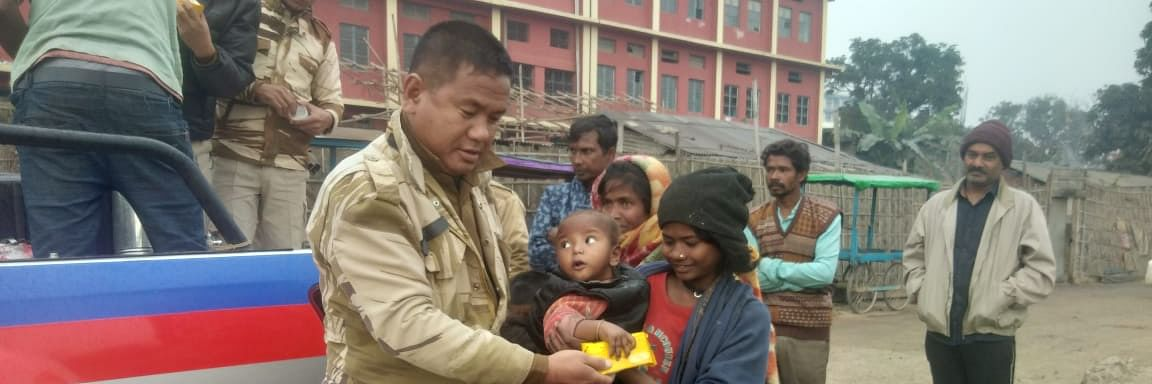 Nagaland cops celebrate New Year with homeless people, win hearts