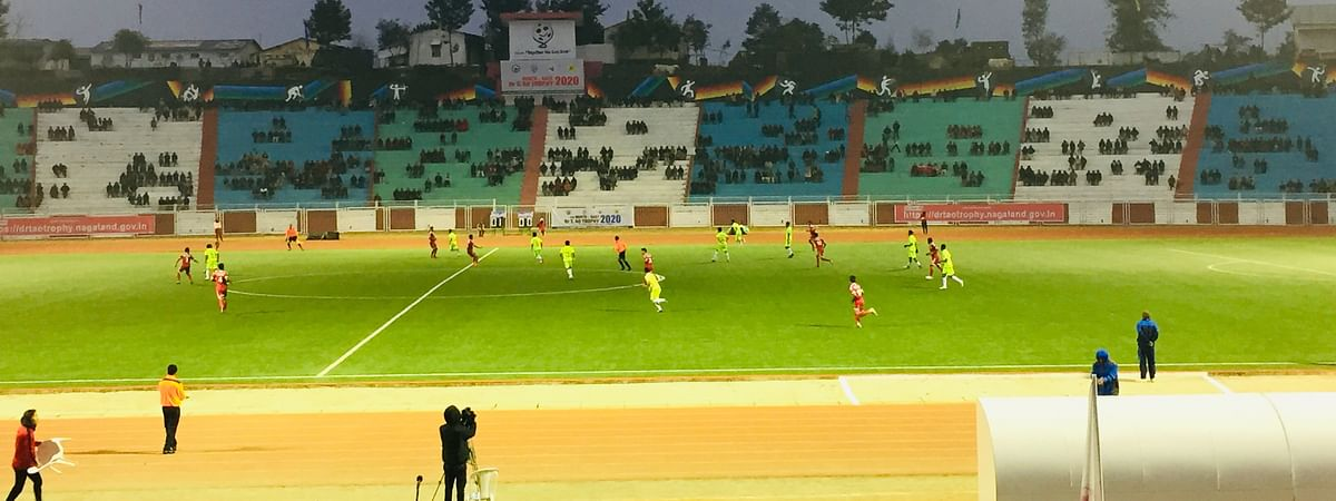 Group A match between Nagaland and Manipur