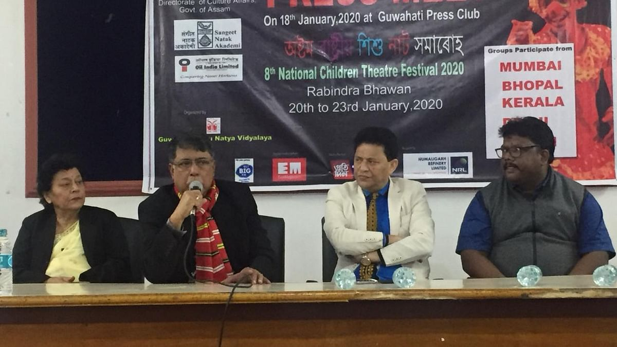 A press meet being held in Guwahati on Saturday to announce the 8th National Children Theatre Festival to be held from January 20 to 23 this year