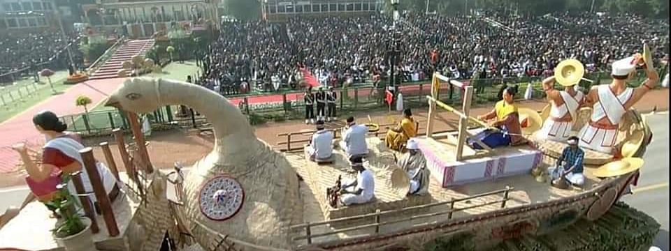Assam Tableau present at the 71st Republic Day