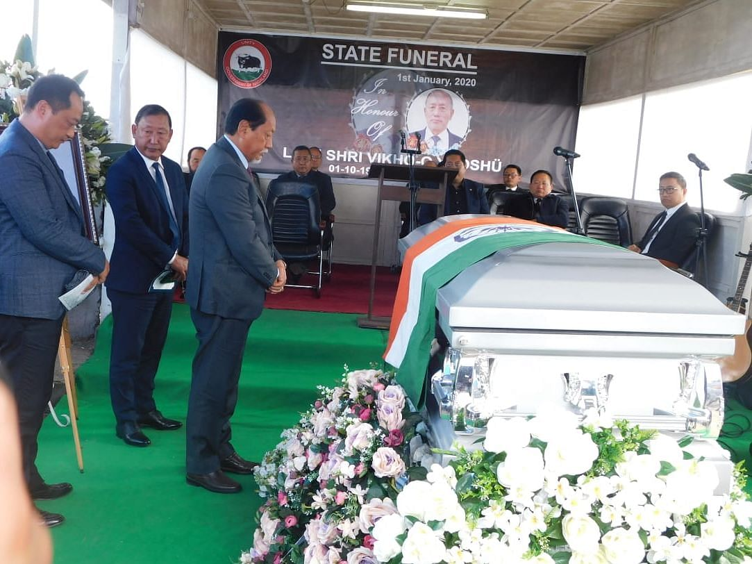 State funeral accorded to Nagaland Assembly Speaker Vikho-o Yhoshu