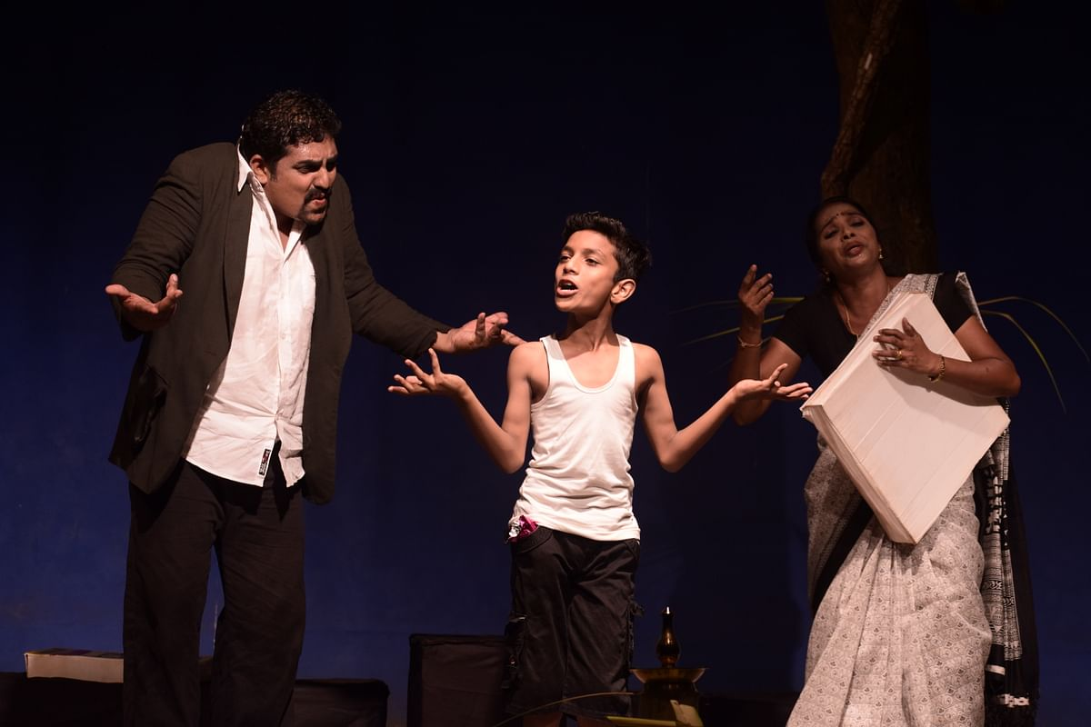 The play begins with the dream of Rajesh, in which he encounters two imaginary characters who represent his subconscious thoughts