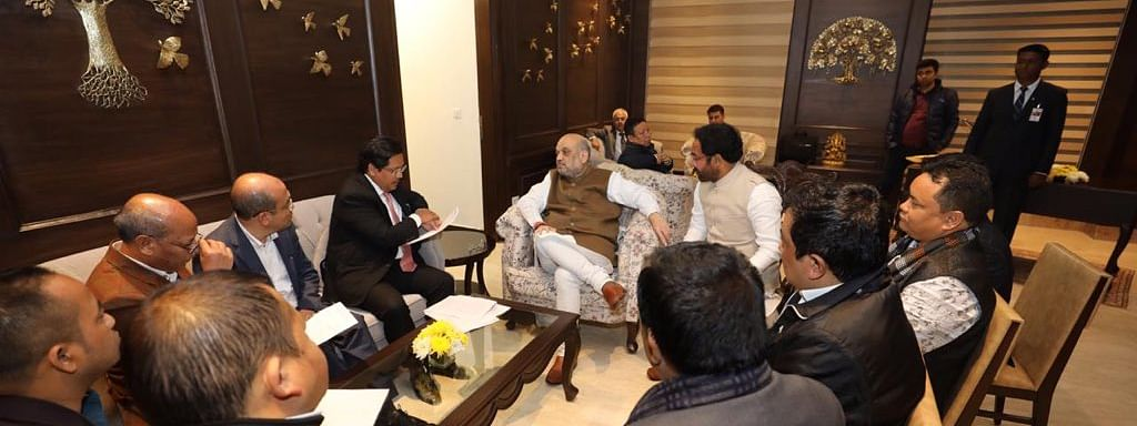 On Dec 14, MDA govt delegation met Amit Shah in New Delhi to urge the Central govt to implement Inner Line Permit (ILP) in Meghalaya
