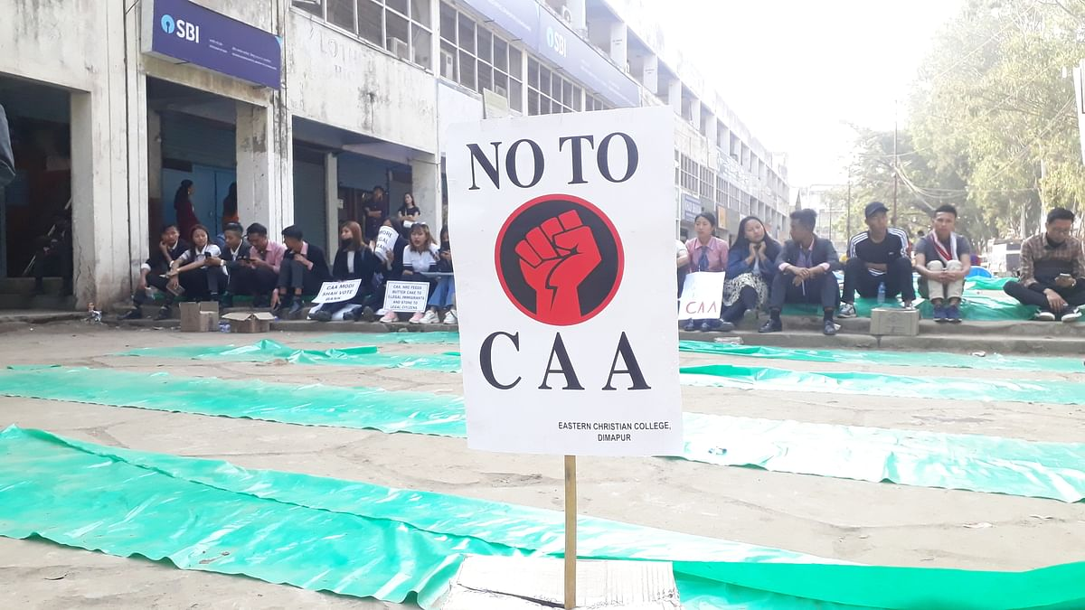 College students from various colleges in and around Dimapur took part in the peaceful protest