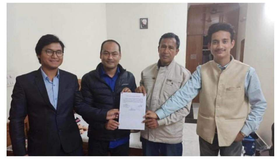NDFB-S leaders with the suspension of operations (SoO) agreement signed with the Centre and Assam government in New Delhi on Thursday