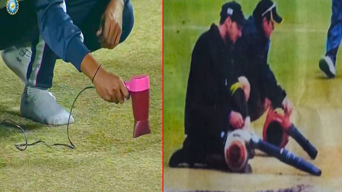 Questions have been raised on how the ACA can compare the hair dryer used in Guwahati match (left) with hot air blowers during an Ashes match