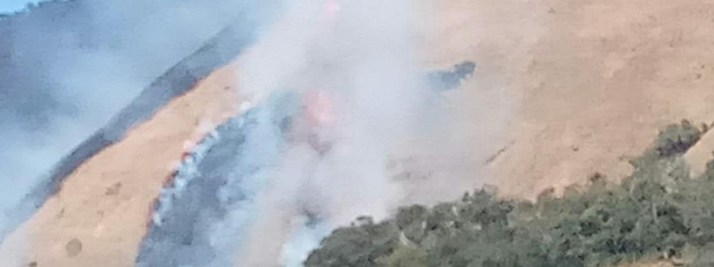 A massive fire broke out at Manipur's Shirui Peak on Friday afternoon