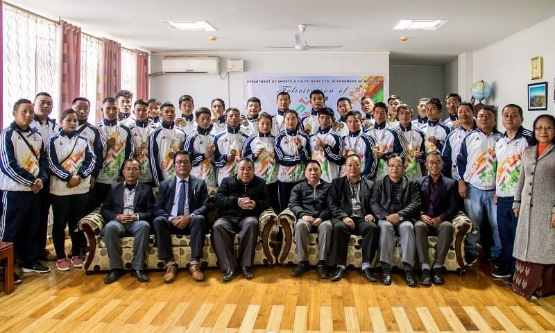 Mizoram's Khelo India Youth Games contingent gets rousing welcome