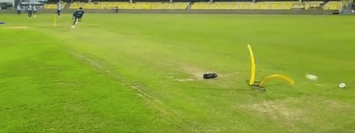 Screen shot of the video uploaded by the BCCI on Twitter