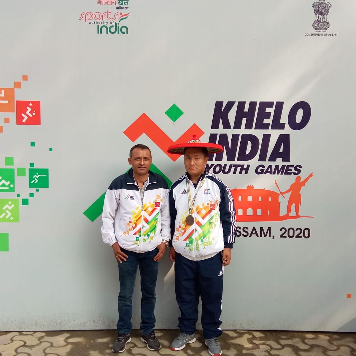 Sikkim's Pemba Tshering Sherpa along with his coach