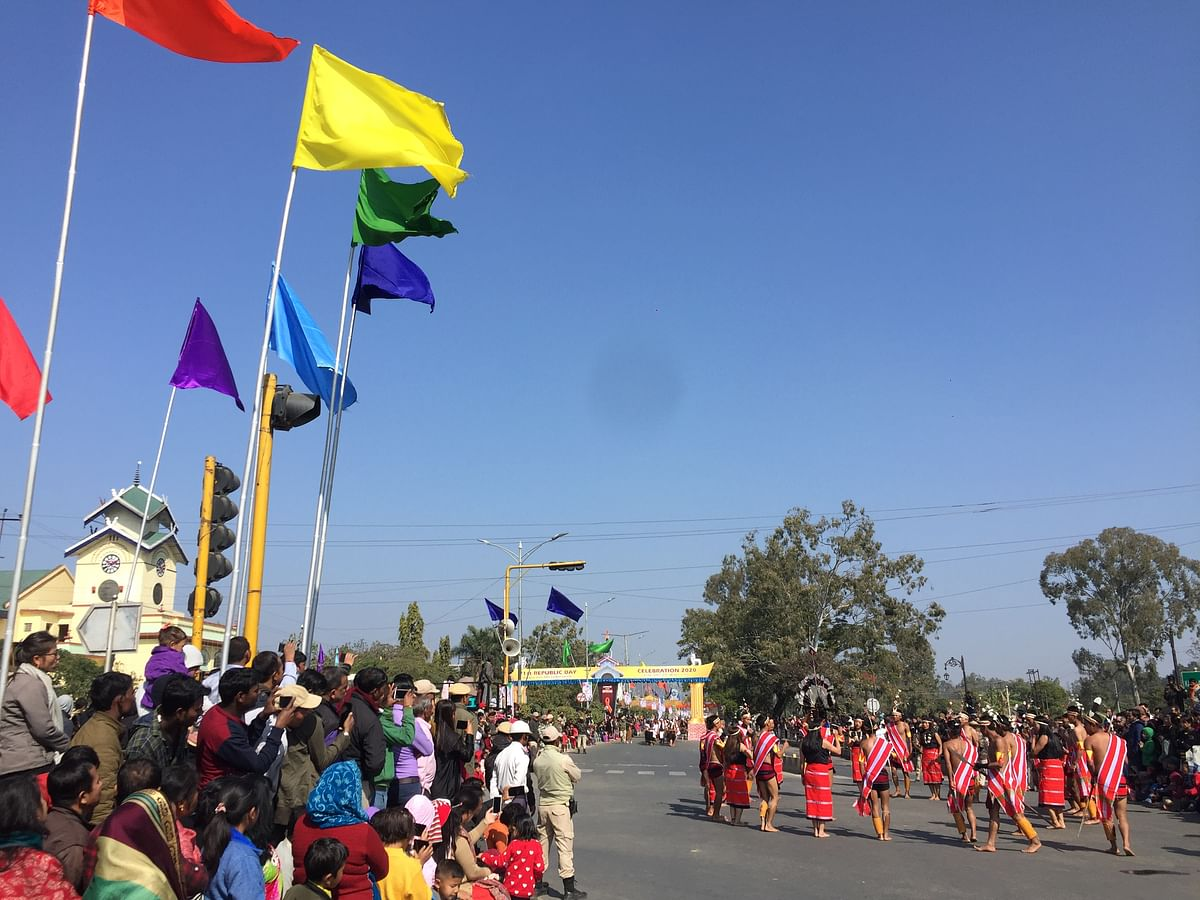 Thousands gathered at Kangla Pat to witnessed the Republic Day celebration in Imphal on Sunday