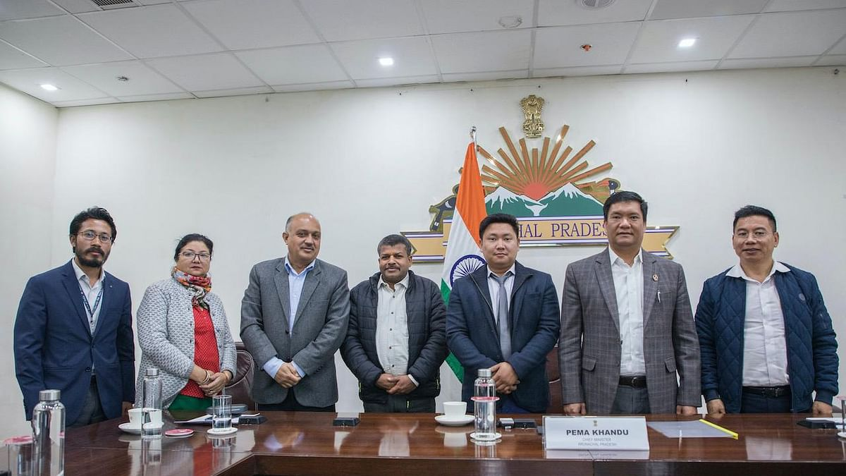 Arunachal Pradesh chief minister Pema Khandu, chief secretary Naresh Kumar and officials of the departments of planning, industries, agriculture and horticulture were present in the meeting