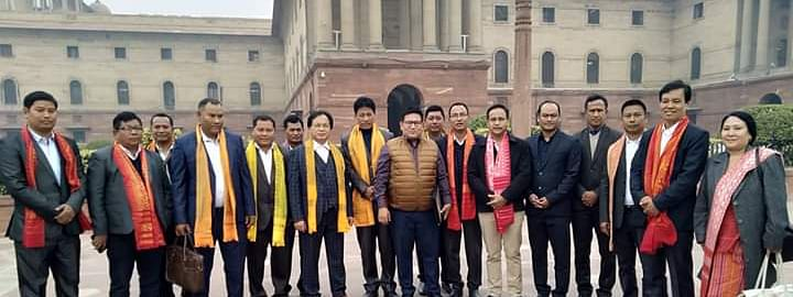 Top Bodo leaders at Ministry of Home Affairs in New Delhi on Monday