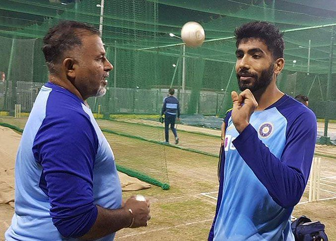 Jasprit Bumrah was seen having chat with bowling coach Bharat Arun during Team India's training session in Guwahati