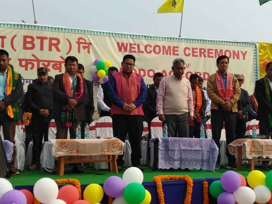 Homecoming: Bodo Accord signatories get hero's welcome on arrival
