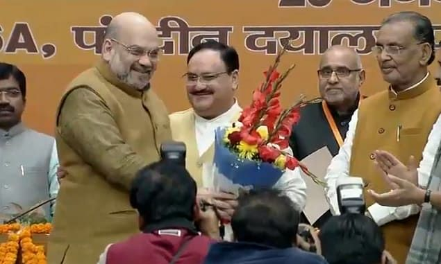 JP Nadda takes over from Amit Shah as new BJP chief