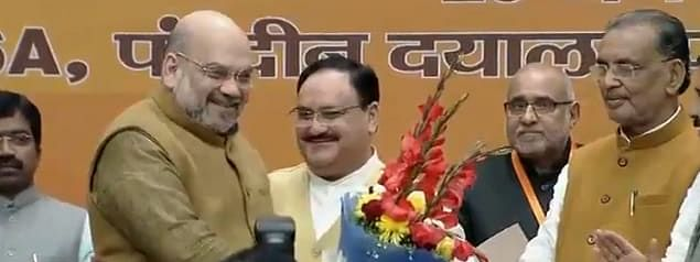 JP Nadda after being announced the new president of BJP on Monday