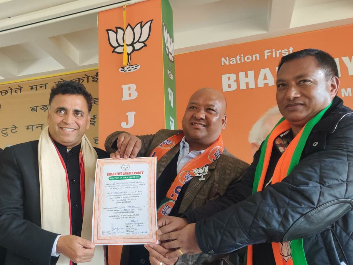 Ernest Mawrie elected new Meghalaya state BJP president