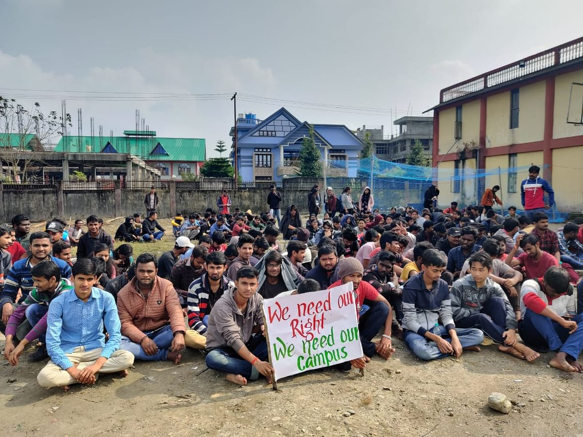 Students of NIT Arunachal Pradesh have been on a sit-in protest since Tuesday