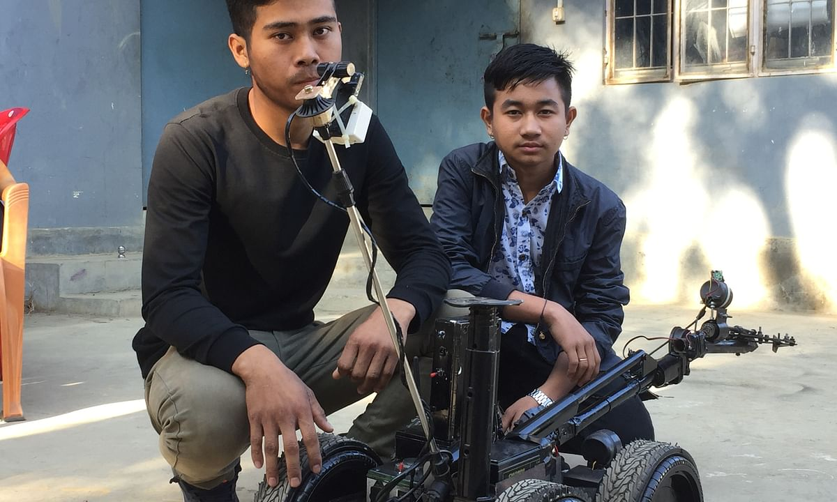 Young Manipuri robot makers develop bomb detector machine