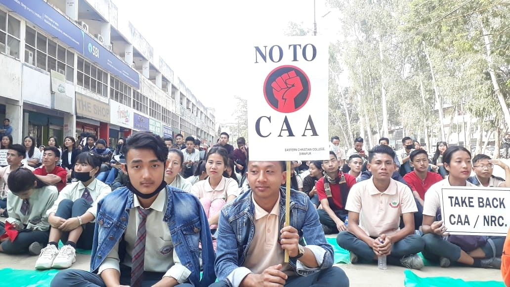 The public protest is being led by Facebook group 'Nagaland Against CAA'