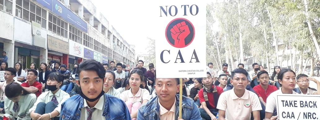 A public protest held against CAA in Dimapur recently