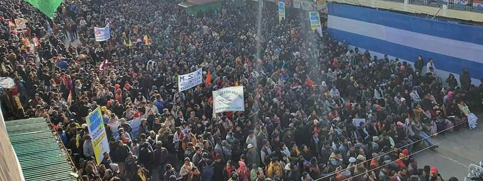 The rally began at Bhanu Bhakta Bhavan near Mall in Darjeeling and concluded in the Chowkbazar area