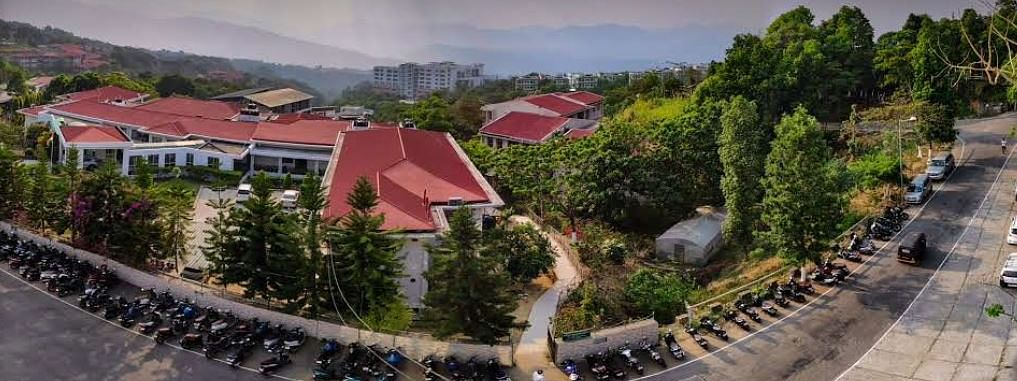 A bird's eye view of Mizoram University in Aizawl