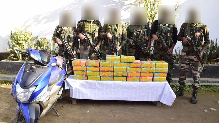Assam Rifles recovered drugs worth over Rs 8 crore along India-Myanmar border